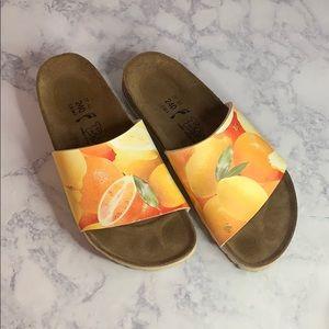 Birks by Birkenstock citrus fruit design straps